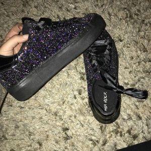 akira platform glitter shoes
